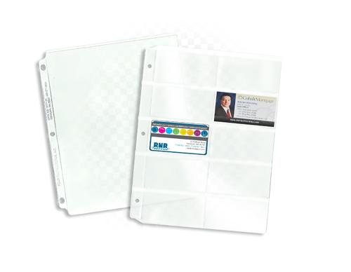 made to order vinyl binder pages rnr plastics